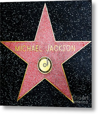 Hollywood Walk Of Fame Michael Jackson 5d28974 Metal Print by Wingsdomain Art and Photography