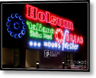 Holsum Neon Las Vegas Metal Print by Kip Krause