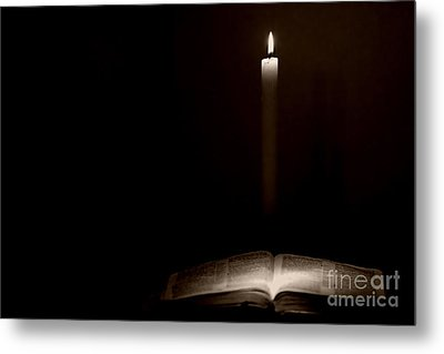 Metal Print featuring the photograph Holy Bible Illuminated by Lincoln Rogers