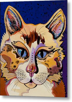 Metal Print featuring the painting Holy Cat by Bob Coonts