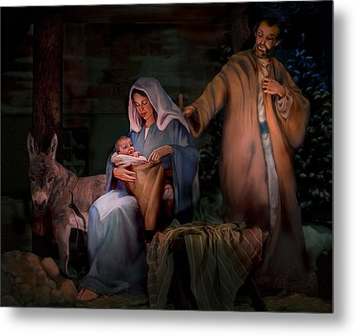 Holy Child Metal Print by Jean Hildebrant