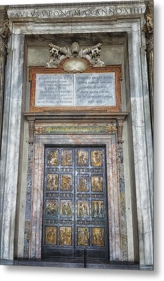 Holy Door Metal Print by Joan Carroll