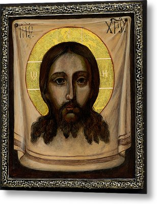 Holy Face Image - Not Made By Hands Metal Print by Fr Barney Deane