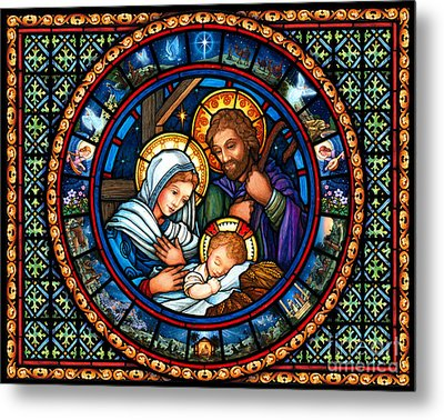Holy Family Christmas Story Metal Print