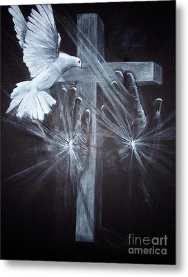 Holy Hands Metal Print