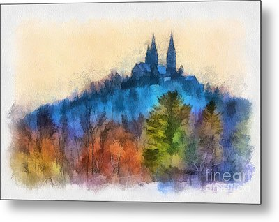 Holy Hill Autumn Metal Print by Clare VanderVeen