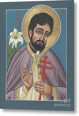 Metal Print featuring the painting Holy New Martyr Father John Karastamatis Of Santa Cruz 216 by William Hart McNichols