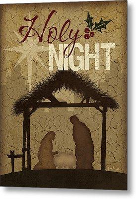 Holy Night Nativity Metal Print by Jennifer Pugh