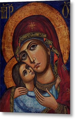 Holy Virgin With The Child Metal Print by Ketti Peeva