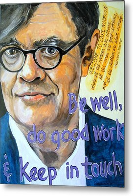 Homage To Garrison Keillor Metal Print