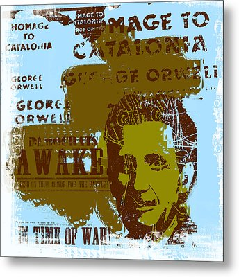 Homage To 'george Orwell' Metal Print by Jeff Burgess