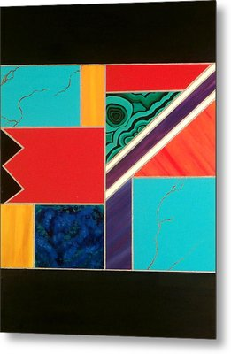 Homage To Inlay #1 Metal Print by Karyn Robinson