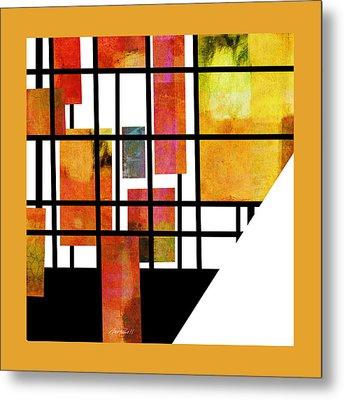 Homage To Mondrian Three Metal Print by Ann Powell