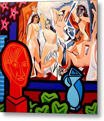 Homage To Picasso I Metal Print