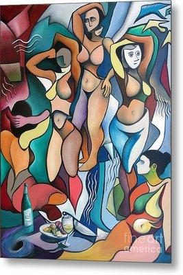 Homage To Picasso's Les Demoiselles D'avignon Metal Print by Jeffrey Williams