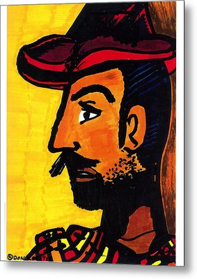 Metal Print featuring the drawing Hombre by Don Koester