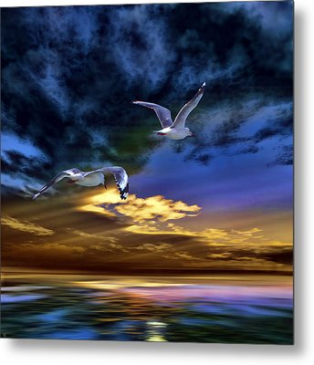 Home Before Nightfall Metal Print