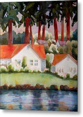 Home By The Lake Metal Print by Blenda Studio