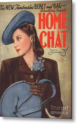 Home Chat 1940s Uk Womens Portraits Metal Print by The Advertising Archives