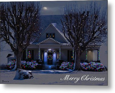 Metal Print featuring the photograph Home For Christmas by Bonnie Willis