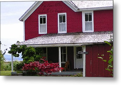 Home For Christmas On Willa Bay Metal Print by Glenna McRae