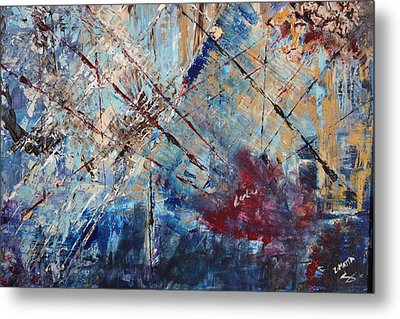 Metal Print featuring the painting Home Is Where The Heart Is by Lucy Matta