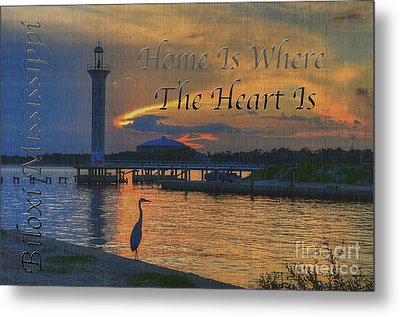 Home Is Where The Heart Is Metal Print by Maddalena McDonald