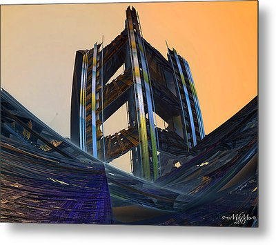 Metal Print featuring the digital art Home Of Brave  by Melissa Messick