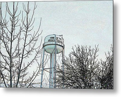 Home Of The Missco Tigers- Colored Pencil Effect Metal Print