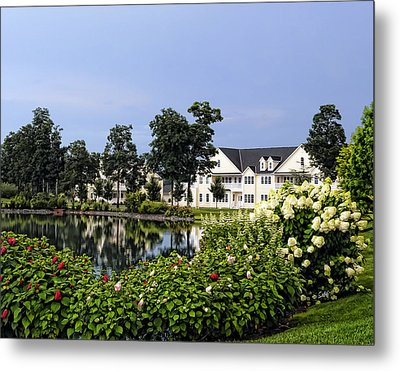 Metal Print featuring the photograph Home On The Golf Course by Sami Martin