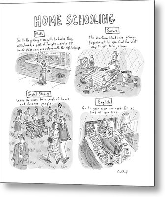'home Schooling' Metal Print by Roz Chast