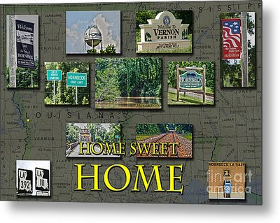Home Sweet Home Metal Print by D Wallace