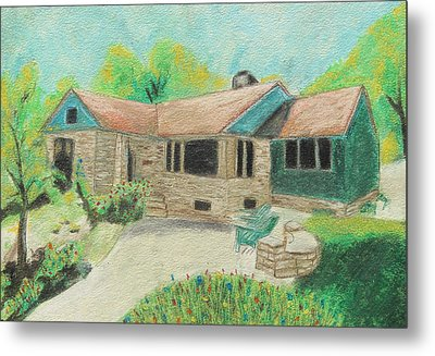 Metal Print featuring the painting Home Sweet Home by Jeanne Fischer