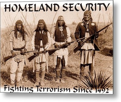 Homeland Security - 1886 Metal Print by Pg Reproductions