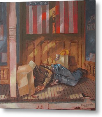 Homeless , Morning Son Metal Print by Tony Caviston