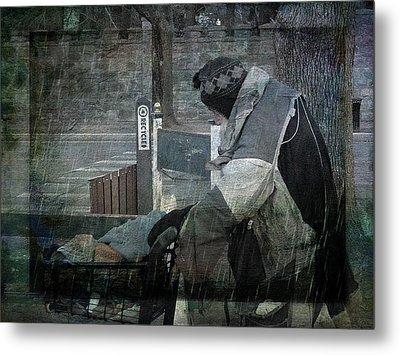 Homeless Man Metal Print by Geoffrey Coelho