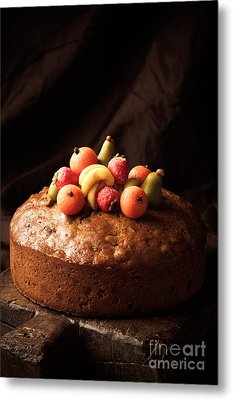 Homemade Rich Fruit Cake Metal Print by Amanda Elwell