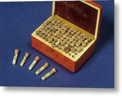 Homeopathic Medicine Phials Metal Print by Science Photo Library