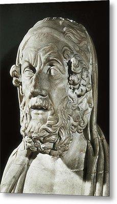 Homer 9th Century  Bc. Greek Writer Metal Print