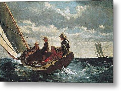 Homer, Winslow 1830-1910. Breezing Up A Metal Print by Everett