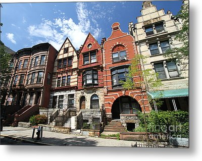 Homes In Hamilton Heights Metal Print