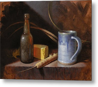 Homestead Beer And Cheese Metal Print by Timothy Jones