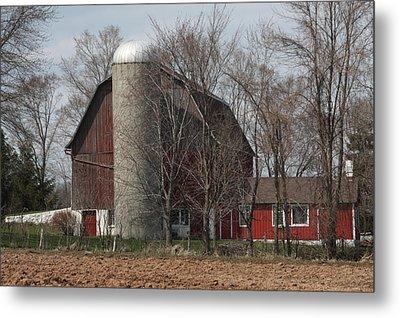Homestead Farm Metal Print by Nancy TeWinkel Lauren