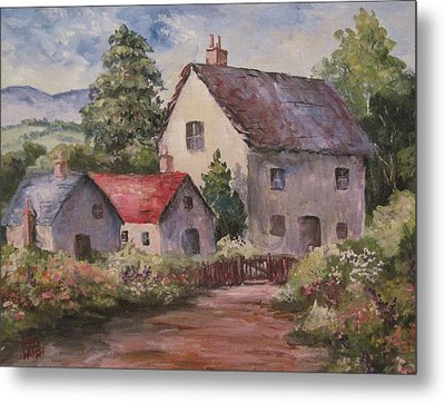 Metal Print featuring the painting Homestead by Megan Walsh