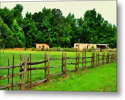 Homestead Metal Print by Paulette B Wright