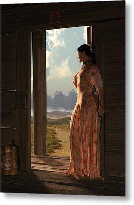 Homestead Woman Metal Print by Daniel Eskridge