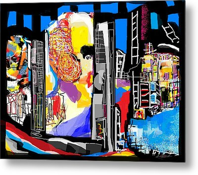 Hometown Abstract Metal Print by Rc Rcd
