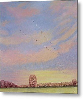Homeward, 2004 Oil On Canvas Metal Print by Ann Brain