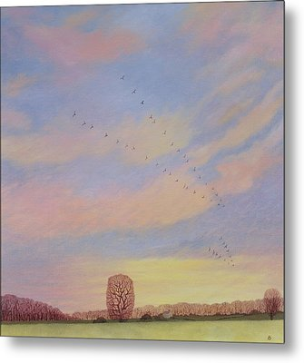 Homeward, 2004 Oil On Canvas Metal Print