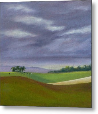 Metal Print featuring the painting Homeward Bound Left by Jo Appleby